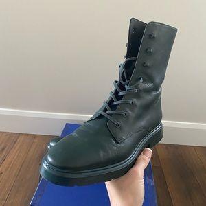 New Authentic Stuart Weitzman Mckenzee Combat Boots, 9,5